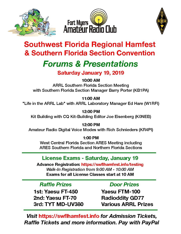 2019 Southwest Florida Regional Hamfest and Southern Florida